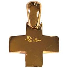 Pomellato 18 Karat Rose Gold Cross Pendant