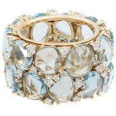 Pomellato 18 Karat Rose Gold Topaz Diamond Lulu Ring
