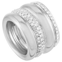 Pomellato 18 Karat White Gold 2.50 Carat Diamond Tubolare Ring