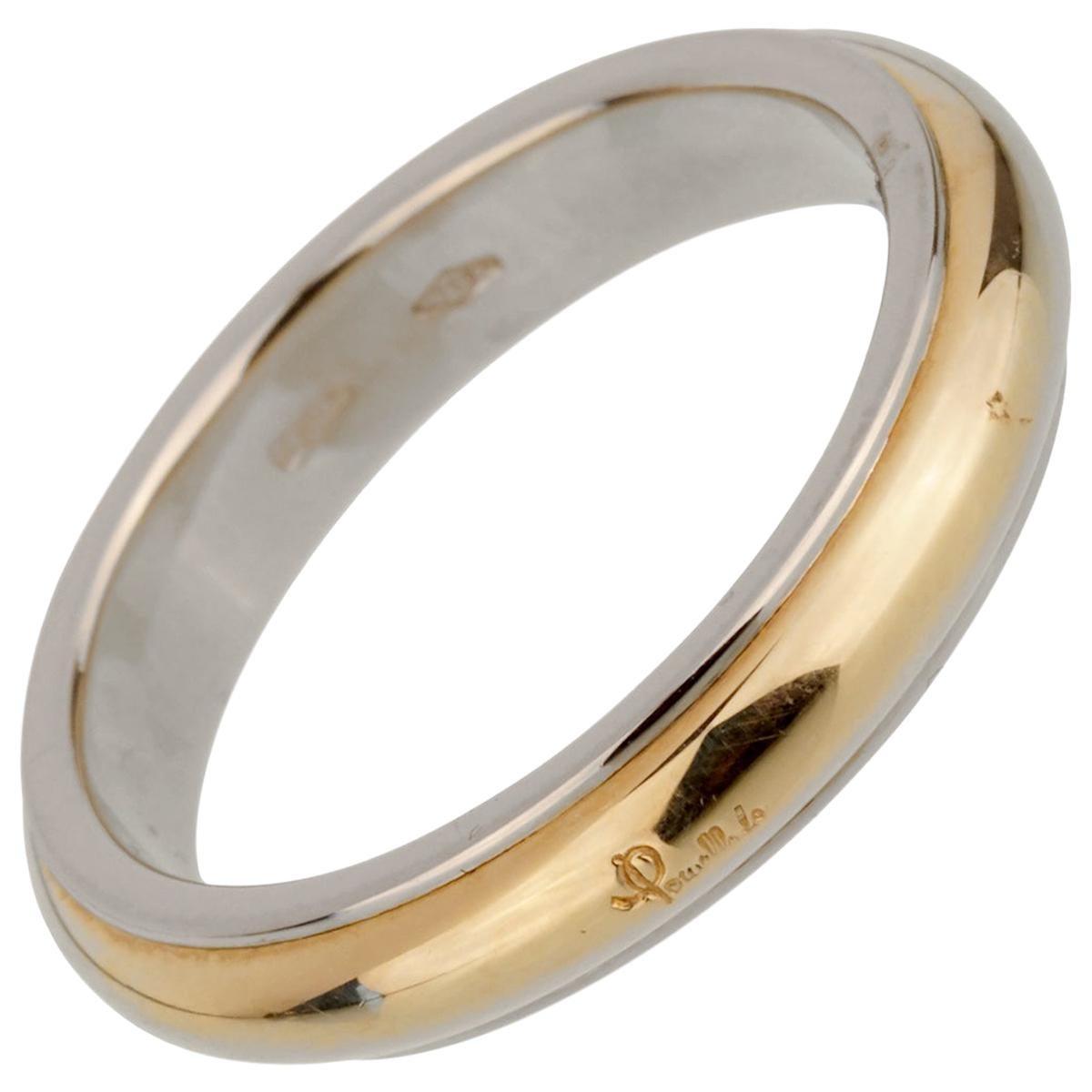 Pomellato 18 Karat White Yellow Band Ring