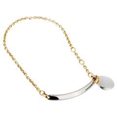 Pomellato 18 Karat White Yellow Gold Choker Necklace