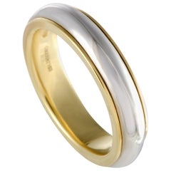 Pomellato 18 Karat Yellow and White Gold Wedding Band Ring
