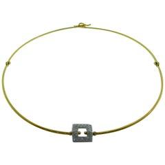 Pomellato 18 Karat Yellow Gold and Diamond Necklace