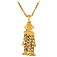 Pomellato 18 Karat Yellow Gold Clown Pendant Necklace