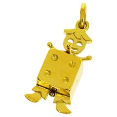 Pomellato 18 Karat Yellow Gold Dice Pendant Top