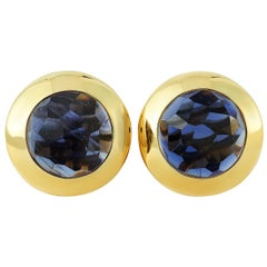 Pomellato 18 Karat Yellow Gold Iolite Earrings