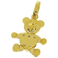 Pomellato 18 Karat Yellow Gold Orsetto Bear Pendant Top Charm