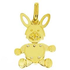 Pomellato 18 Karat Yellow Gold Rabbit Pendant Charm