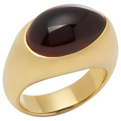 Pomellato 18 Karat Yellow Gold Red Garnet Dome Ring