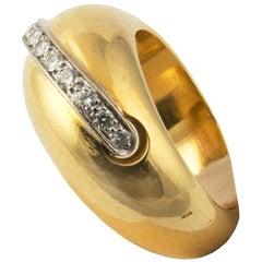 Pomellato 18 Karat Yellow Gold Ring and Diamonds