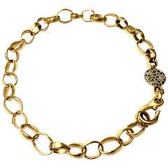 Pomellato 18 Karat Yellow Gold Sabbia Link Choker Necklace with Brown Diamonds