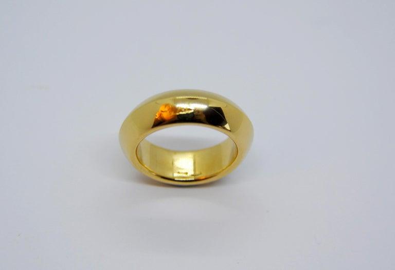 Contemporary Pomellato 18 Karat Yellow Gold Solid Ring Iconic and Classic Pomellato For Sale