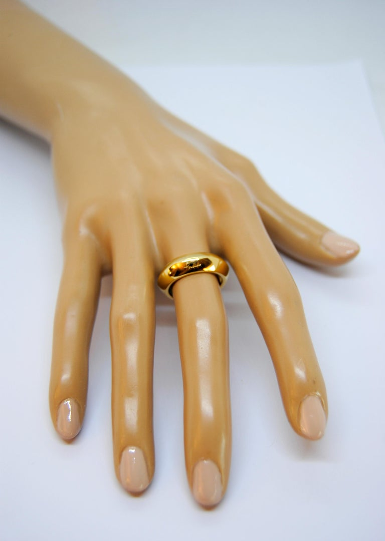 Pomellato 18 Karat Yellow Gold Solid Ring Iconic and Classic Pomellato For Sale 2