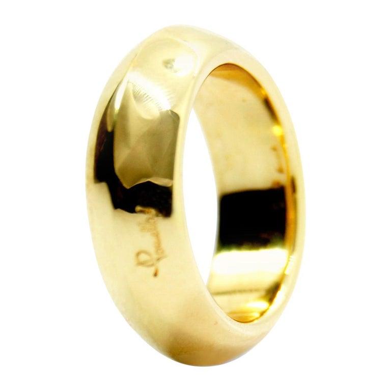 Pomellato 18 Karat Yellow Gold Solid Ring Iconic and Classic Pomellato For Sale