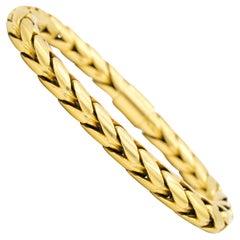 Pomellato 18 Karat Yellow Gold, Thick Tubular Herringbone Bracelet