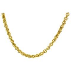 Pomellato 18 Karat Yellow Gold White Gold Chain Necklace 42cm