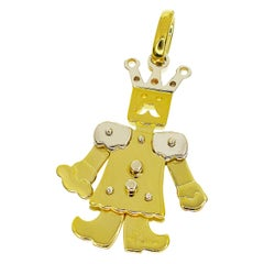 Pomellato 18 Karat Yellow Gold White Gold King Medium Pendant Top Charm