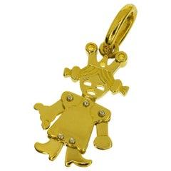 Pomellato 18 Karat Yellow Gold White Gold Queen Small Size Pendant Top
