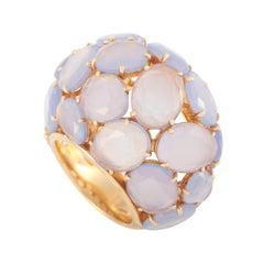 Pomellato 18k Rose Gold Capri Chalcedony Dome Cocktail Ring