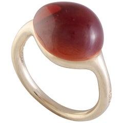 Pomellato 18 Karat Rose Gold Citrine Cabochon Ring
