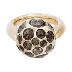 Pomellato 18K Yellow Gold Smoky Quartz Harem Ring