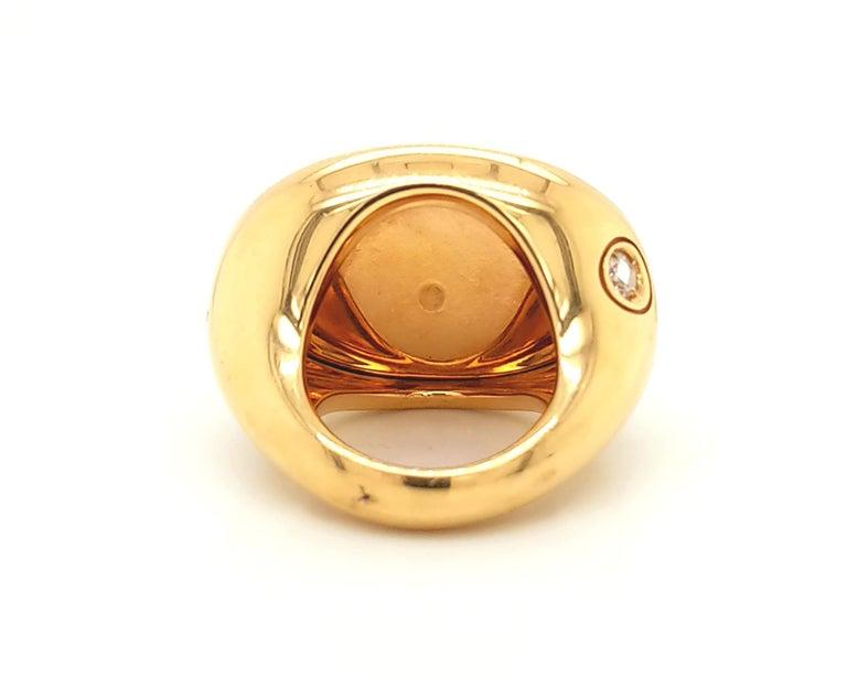 Pomellato Agate Diamond Yellow Gold Cocktail Ring In Excellent Condition In New York, NY