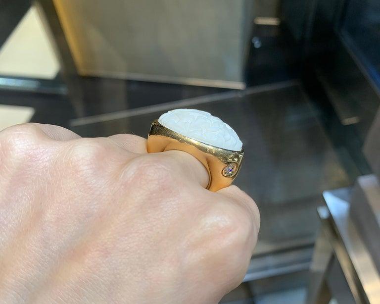Pomellato Agate Diamond Yellow Gold Cocktail Ring 3