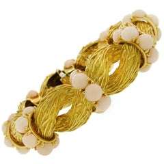 Pomellato Angel Skin Coral Yellow Gold Bracelet, 1950s