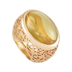 Pomellato Arabesque 18k Rose Gold Amber Ring