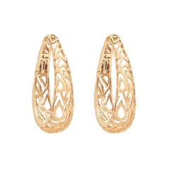 Pomellato Arabesque Hoop Earring in in Matte-Finished 18 Karat Pink Gold