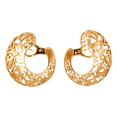 Pomellato Arabesque Matt finish 18K Rose Gold Stud Earrings