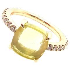 Pomellato Baby Cognac Diamond Lemon Quartz Yellow Gold Ring