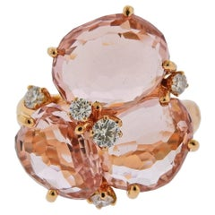 Pomellato Bahia Diamond Morganite Gold Ring