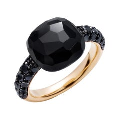 Pomellato Capri 18 Karat Gold Black Diamonds and Onyx Ring