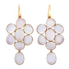 Pomellato Capri 18k Rose Gold Chalcedony Dangling Earrings