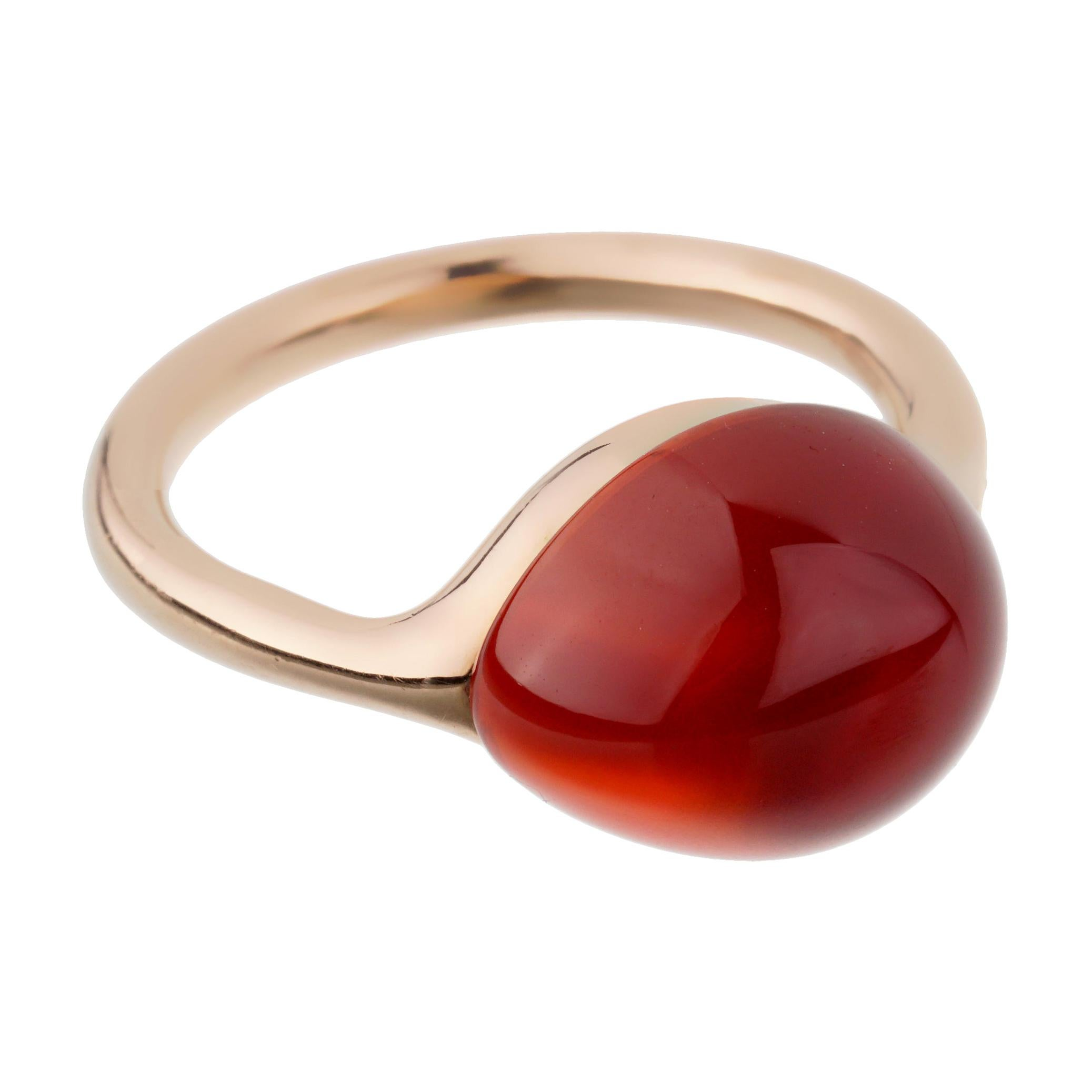 Pomellato Carnelian Rose Gold Cocktail Ring
