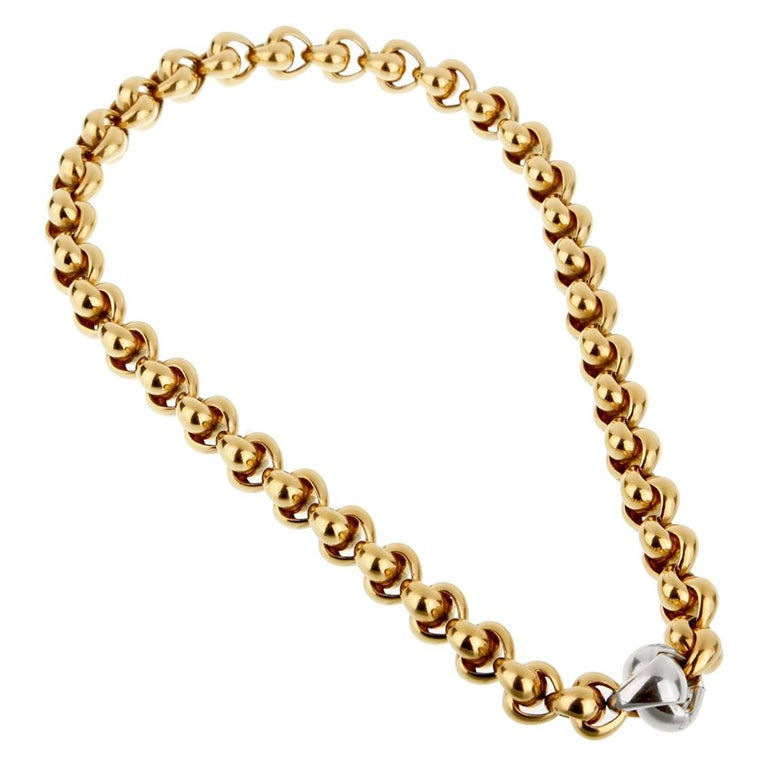 Pomellato Chain Link Yellow Gold Necklace For Sale