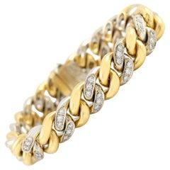 Pomellato Curb Link Gold and Diamonds Bracelet