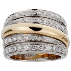 Pomellato Diamond Cocktail Gold Ring
