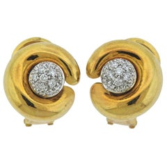 Pomellato Diamond Gold Night and Day Earrings