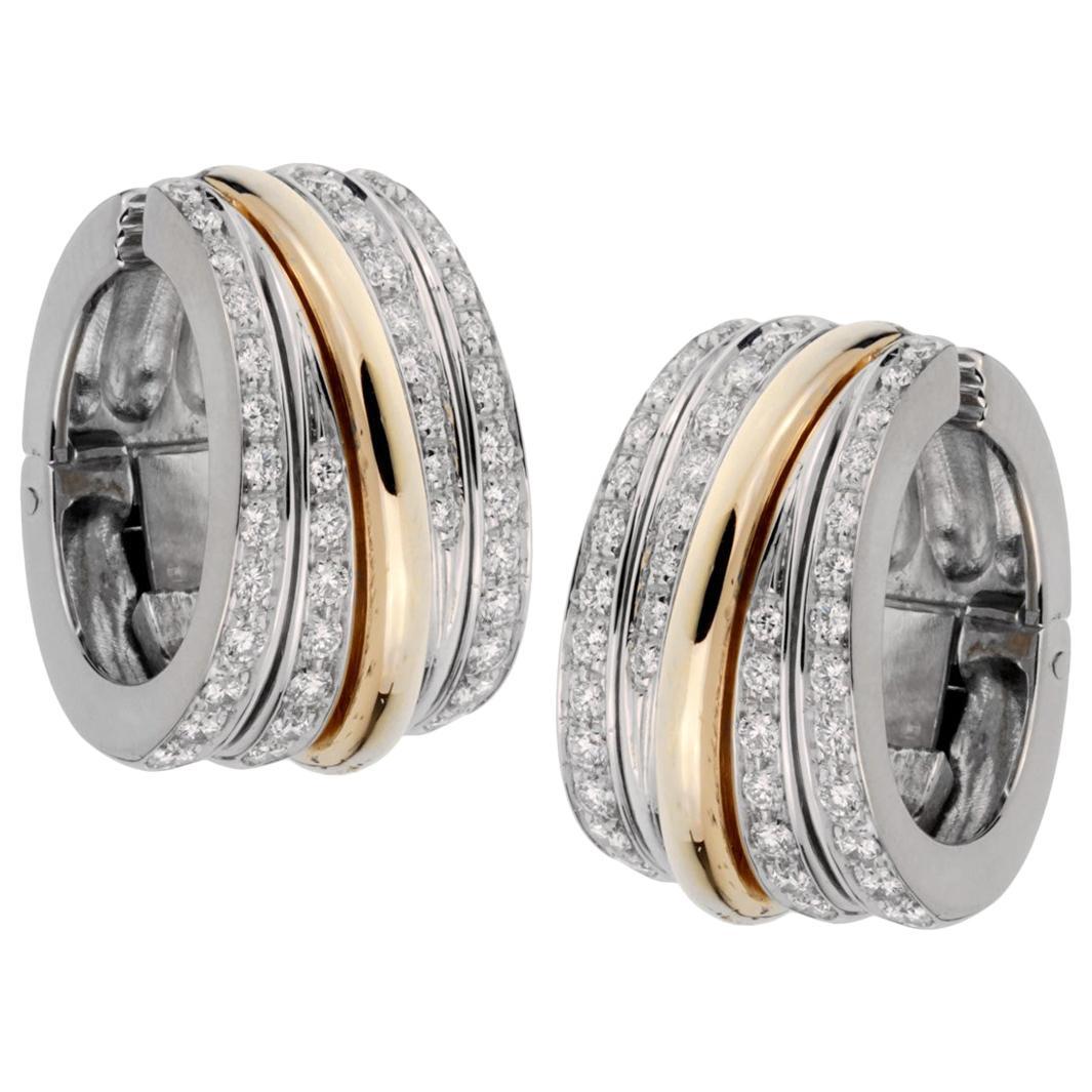 Pomellato Diamond Hoop Earrings