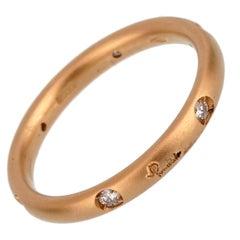 Pomellato Diamond Rose Gold Band Ring
