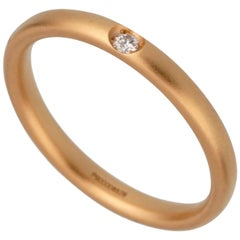 Pomellato Diamond Rose Gold Band Ring