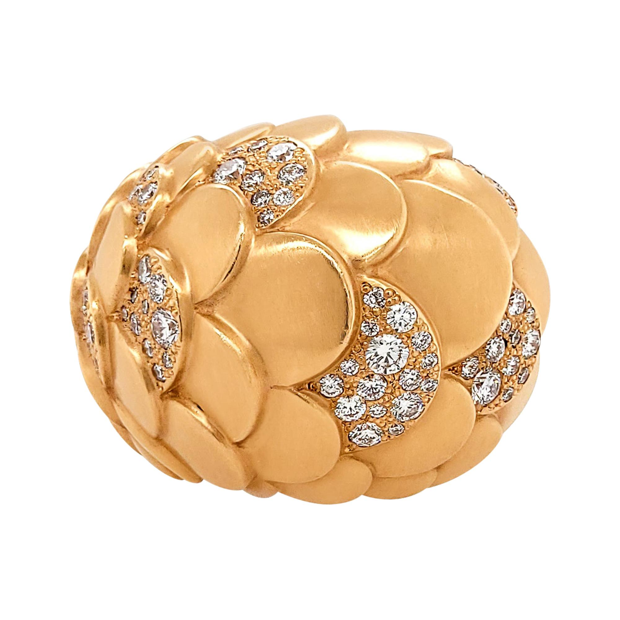 Pomellato Diamond Rose Gold Cocktail Ring