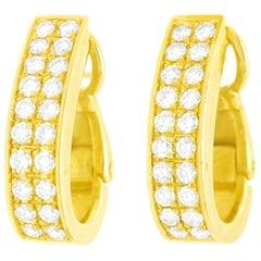 Pomellato Diamond-Set Gold Earrings