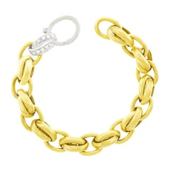 Pomellato Diamond Set Gold Link Bracelet