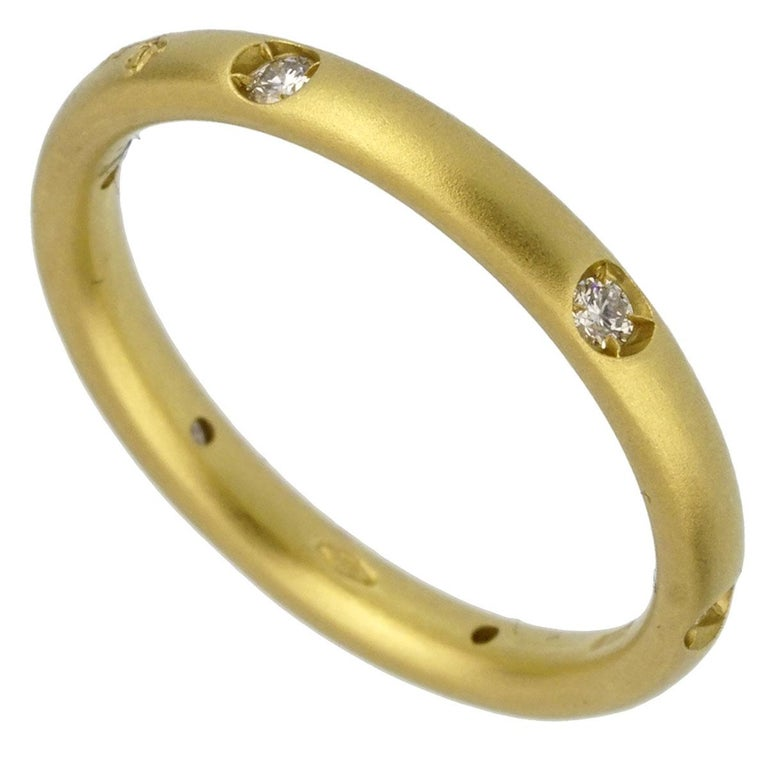 Pomellato Diamond Yellow Gold Band Ring In New Condition For Sale In Feasterville, PA