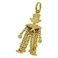 Pomellato Diamond Yellow Gold Sailor Pendant Top Charm