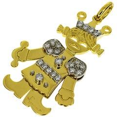 Pomellato Diamonds 18 Karat Gold Queen Large Size Pendant Top Charm