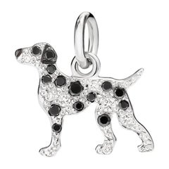 Pomellato, Dodo Dalmation 18 Karat Gold Pendant with Black and White Diamonds